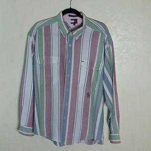 Tommy Hilfigure Botton Dress oShirt Long Sleeve